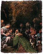 Follower of Jacopo da Ponte The Adoration of the Magi oil painting