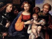 Girolamo di Benvenuto Virgin and Child with Saints Michael and Joseph oil painting artist