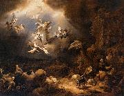 Govaert Flinck Angels Announcing the Birth of Christ to the Shepherds oil painting artist