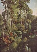 Gustave Courbet Waldbach mit Rehen oil painting reproduction