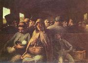 Honore Daumier Wagen dritter Klasse oil painting reproduction