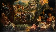 Jacopo Tintoretto The Worship of the Golden Calf oil painting