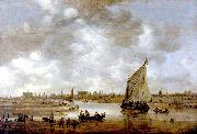 Jan van  Goyen View of Leiden from the Northeast oil painting artist