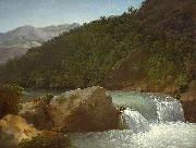 Jean-Joseph-Xavier Bidauld View of the Cascade of the Gorge near Allevard oil painting