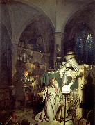 Joseph wright of derby The Alchemist Discovering Phosphorus or The Alchemist in Search of the Philosophers Stone oil painting on canvas