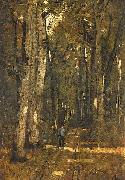 Laszlo Paal In the Forest of Fontainebleau oil painting artist