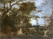Michael Willmann Landscape with St. John. oil painting artist
