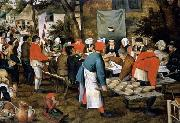 Pieter Brueghel the Younger Peasant Wedding Feast oil painting