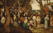 Pieter Brueghel the Younger The Preaching of St. John the Baptist oil painting