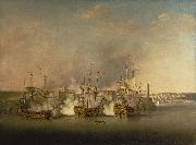 Richard Paton Bombardment of the Morro Castle, Havana, 1 July 1762 oil painting on canvas