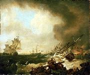 Richard Wright The Battle of Quiberon Bay oil painting artist