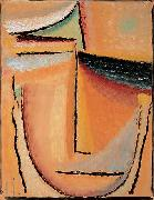 Alexej von Jawlensky Abstract Head oil painting