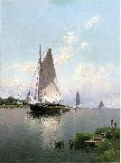 Alfred Thompson Bricher Blue Point, Long Island oil