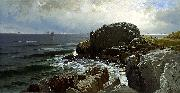 Alfred Thompson Bricher Castle Rock, Marblehead oil