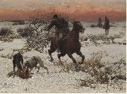 Alfred William Hunt,RWS The hunters oil painting artist