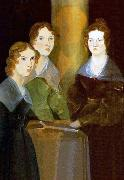 Branwell Bronte A painting of the three Bronta sisters oil