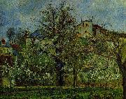 Camille Pissarro Obstgarten mit bluhenden Baumen oil painting reproduction