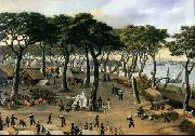 Candido Lopez Representation of the Brazilian Army at Curuzu during the War of the Triple Alliance. oil painting