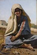 Charles Verlat The Girl from Bethlehem oil
