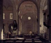 Emmanuel de Witte Interior of a Baroque Church oil painting artist