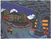 Ernst Ludwig Kirchner Railway underpass in Dresden oil painting reproduction