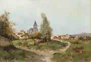 Eugene Galien-Laloue The path outside the village oil