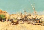 Eugene Galien-Laloue Marseille Port oil painting artist
