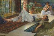 Ferdinand Max Bredt Leisure of the odalisque oil painting artist