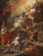 Francesco Solimena L Assomption et le Couronnement de la Vierge oil painting reproduction