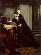 Frank Blackwell Mayer Queen Elisabeth Signs the Condemnation to Death to Mary Stuart oil