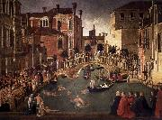 Gentile Bellini Miracle of the Cross at the Bridge of San Lorenzo oil