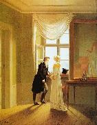 Georg Friedrich Kersting Paar am Fenster oil painting reproduction