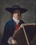 George Morland George Morland at an easel oil painting artist