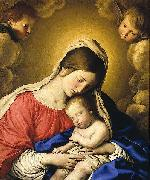 Giovan Battista Salvi Sassoferrato Madonna and Child oil painting artist