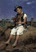 Gyorgy Vastagh Fiddler Gypsy Boy oil painting reproduction