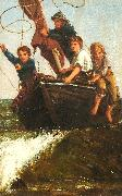 James Charles Bringing the boat ashore oil painting artist