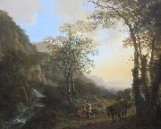 Jan Both An Italianate Landscape with Travelers on a Path, oil on canvas painting by Jan Both, 1645-50, Getty Center oil