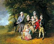 Johann Zoffany Queen Charlotte with her Children and Brothers oil painting reproduction