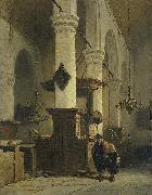 Johannes Bosboom Church Interior oil
