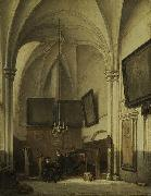 Johannes Bosboom The vestry of St. Stevens Church in Nijmegen oil
