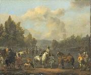 LINGELBACH, Johannes The riding school oil painting artist