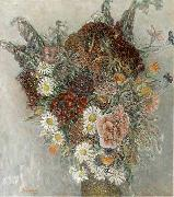 Leon Comerre Zomerbloemen oil painting reproduction