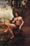 Leonardo  Da Vinci Bacchus oil painting reproduction