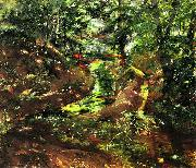 Lovis Corinth Waldinneres in Bernried oil painting reproduction