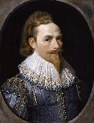 Nathaniel Bacon self-portrait oil