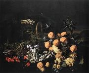 RUOPPOLO, Giovanni Battista Still life in a Landscape oil painting artist