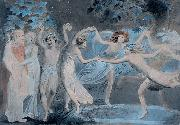 William Blake Oberon, Titania and Puck with Fairies Dancing oil painting reproduction