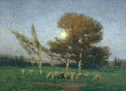 William Bromley Early Moonrise in September oil