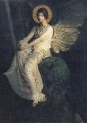 Abbott Handerson Thayer Angel Seated on a Rock oil