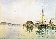 Alfred Thompson Bricher Harbor oil painting